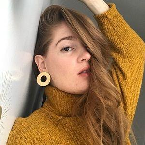 Jenny Bird Gold Circle Earrings